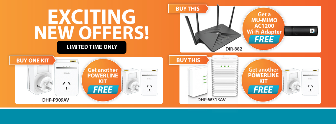 D-Link Q1 promo offers