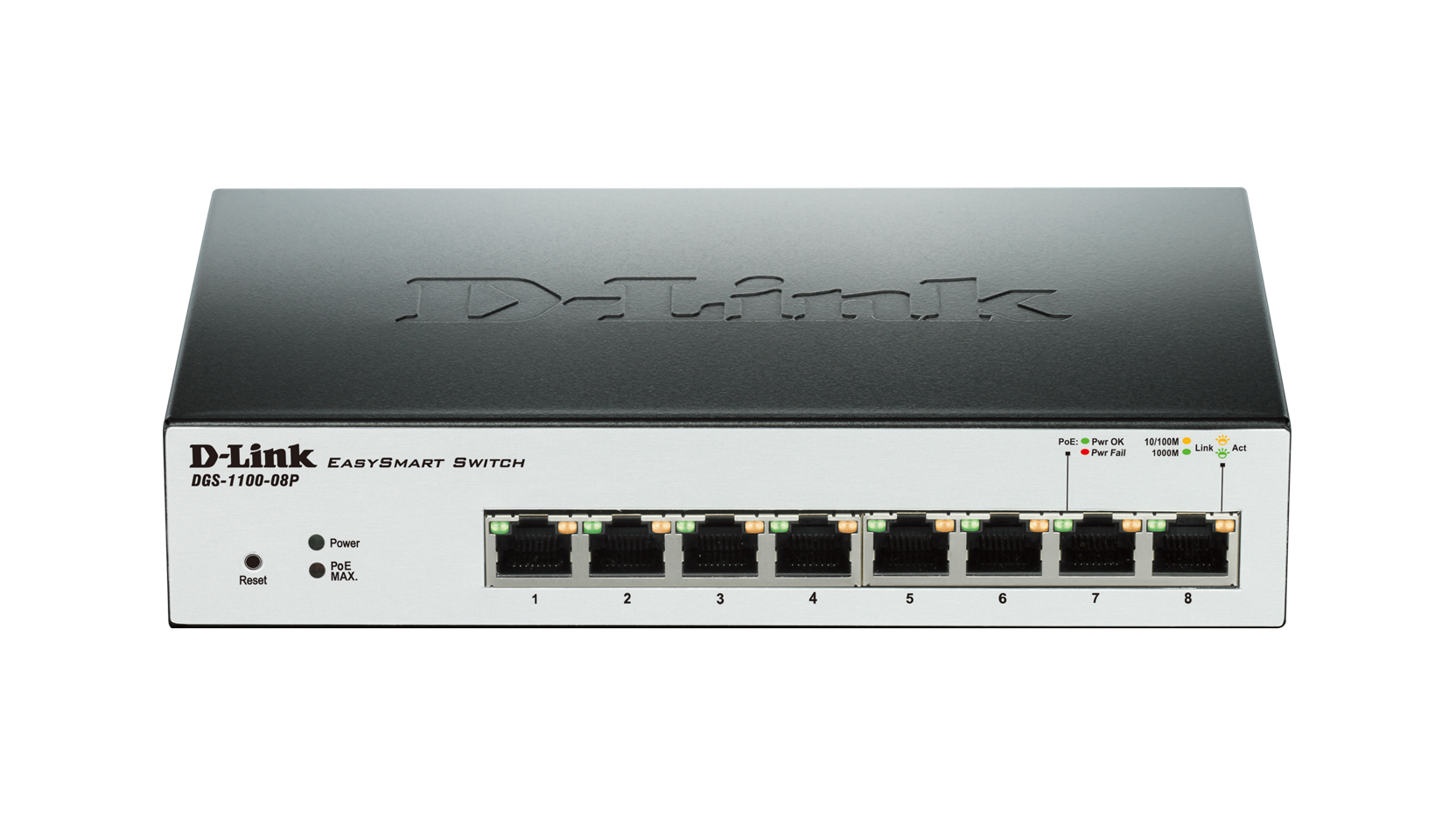 8 Port Gigabit Smart Managed PoE Switch