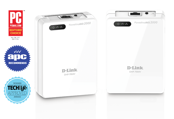 D-Link DHP-701AV image and awards