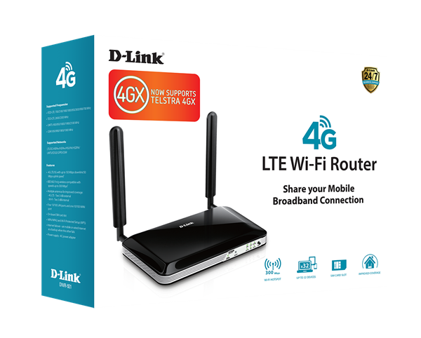 4G LTE Router with Standard-size SIM Card Slot