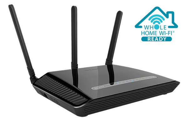 Wireless AC1200 Dual Band Gigabit ADSL2+/VDSL2 Modem Router DSL-2885A