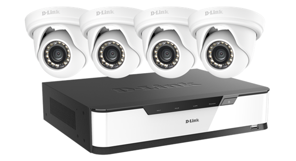 full hd surveillance starter kit 16 ch nvr with 4x full hd cameras. Black Bedroom Furniture Sets. Home Design Ideas