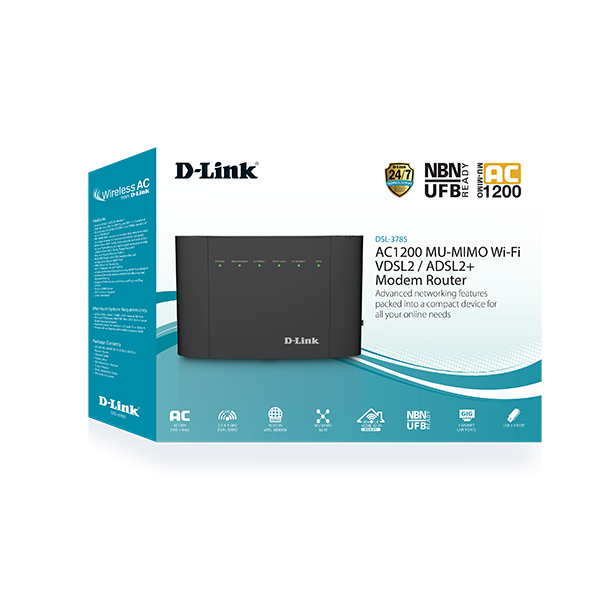 D-Link DSL-3785 packaging