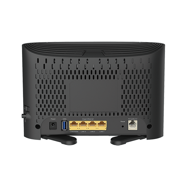 DSL-2878 AC750 Modem Router back