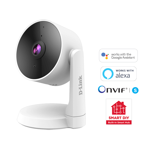 D-Link Smart Full HD Wi-Fi Camera with smart icons