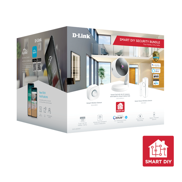 D-Link Smart DIY Security camera kit Gift Box DCS-8331KT